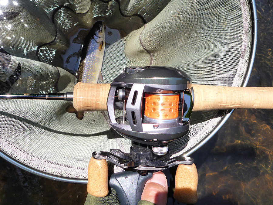 Tenryu Rayz RZ53UL-BC, Daiwa Alphas Air Stream Custom, Varivas Bait Finess Nylon 2.5 lb, Brook Trout!