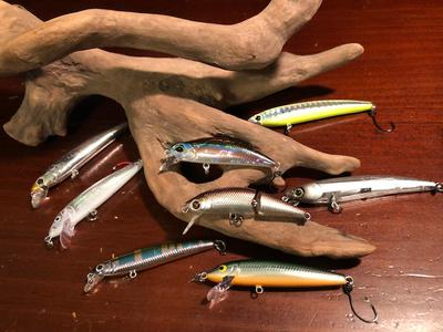 One lure - single hook minnow plugs