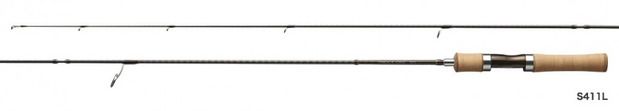 Shimano Trout One NS (Native Special) 411L. The NS53UL and NS60UL grips are longer.